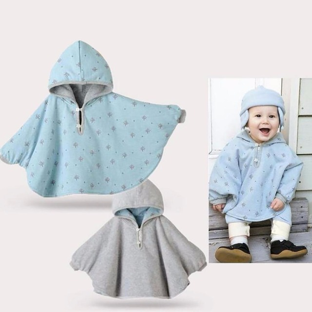 Alto quanlity Soft Abrigos Bebé Guardapolvos Del Bebé Outwear Engrosamiento de Algodón Jumpers ropa manto Poncho Cabo D256