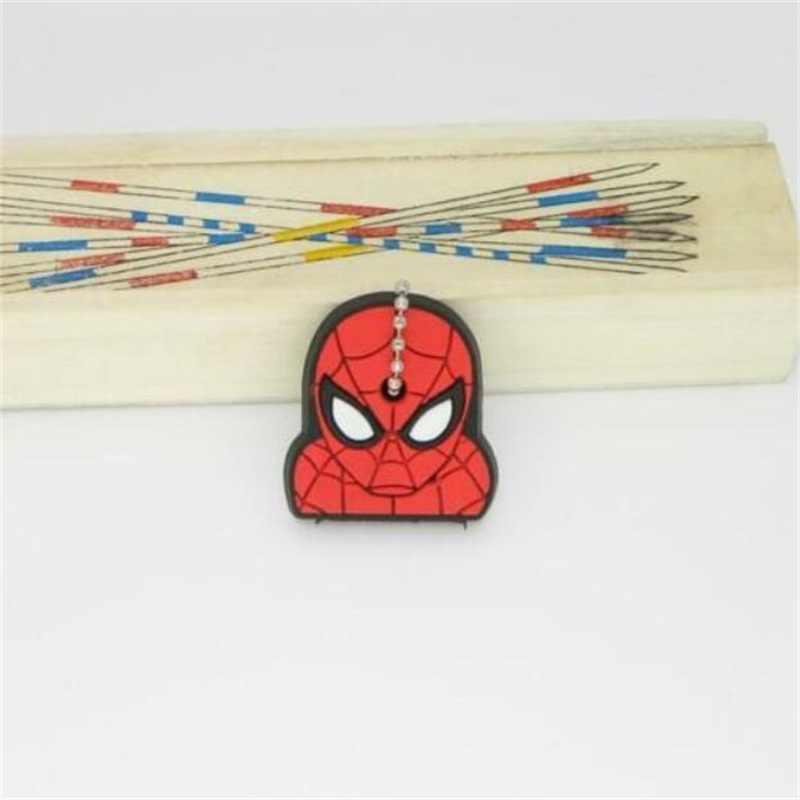 Super herói anime spider-man batman capitão américa chaveiro cosplay tampa da chave de silicone pingente chaveiro chaveiro