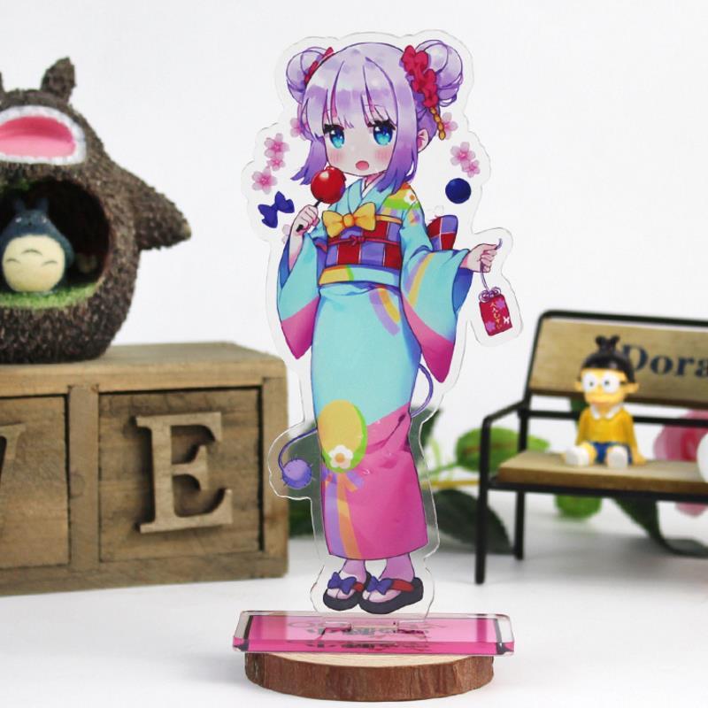 1Pc mignon Anime Kobayashi San Chi pas de femme de ménage Dragon acrylique support modèle jouets Miss Kobayashis Dragon Maid figurine jouets