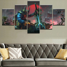 HD Print Painting Decorative Picture Home Living Room Wall Art Canvas Printed Game Poster DOTA 2 5 Piece