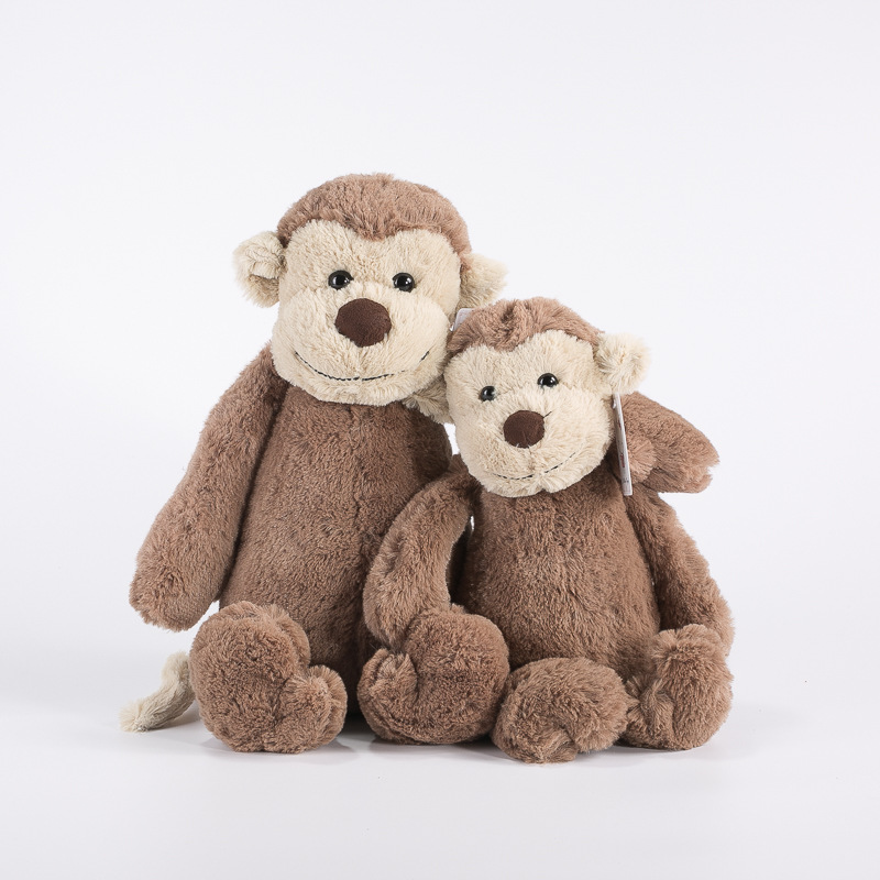 Stuffed Toys Kawaii Plush Animals Monkey for Baby Boy Girls Brithday Gifts Soft Cotton Cute Brinquedos Infants Peluche Toy Brown 1pcs 18cm cute flower monkey plush toy stuffed animals