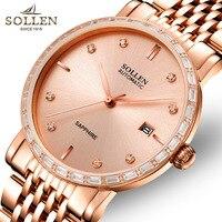 SOLLEN Luxury Brand Top Men S Business Automatic Mechanical Watch Men S Steel Calendar Watch Waterproof