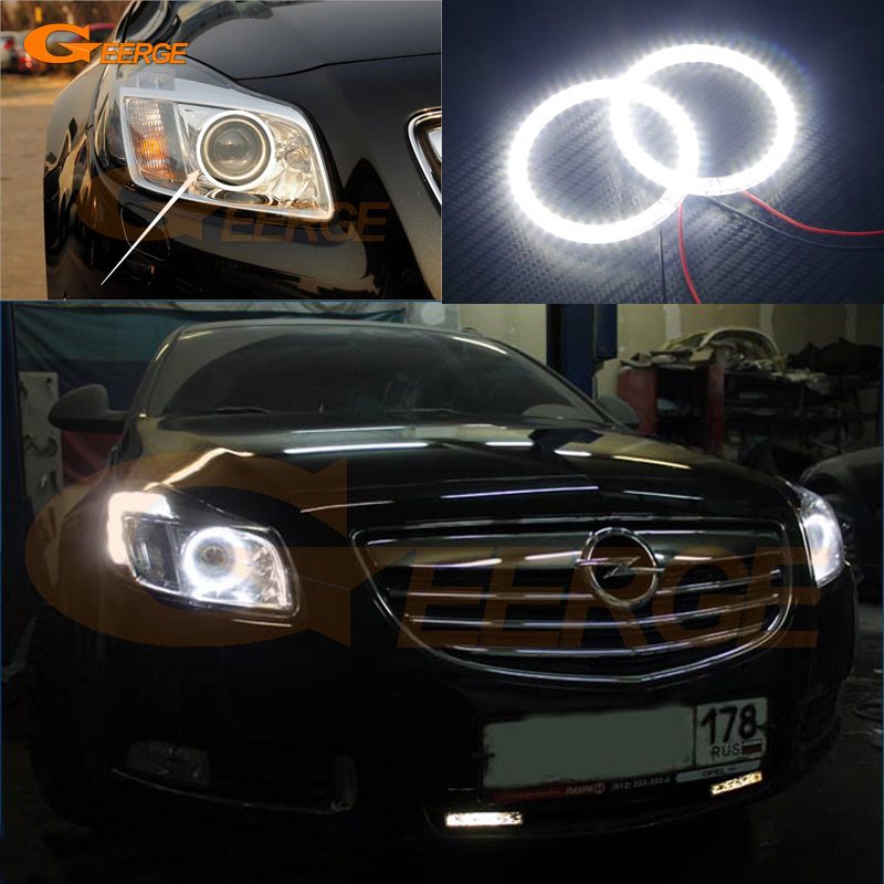 For Opel Insignia 2008 2009 2010 2011 2012 2013 Excellent led Angel Eyes Ultra bright illumination smd led Angel Eyes kit for mazda 3 mazda3 bl sp25 mps 2009 2010 2011 2012 2013 excellent ultra bright illumination ccfl angel eyes kit