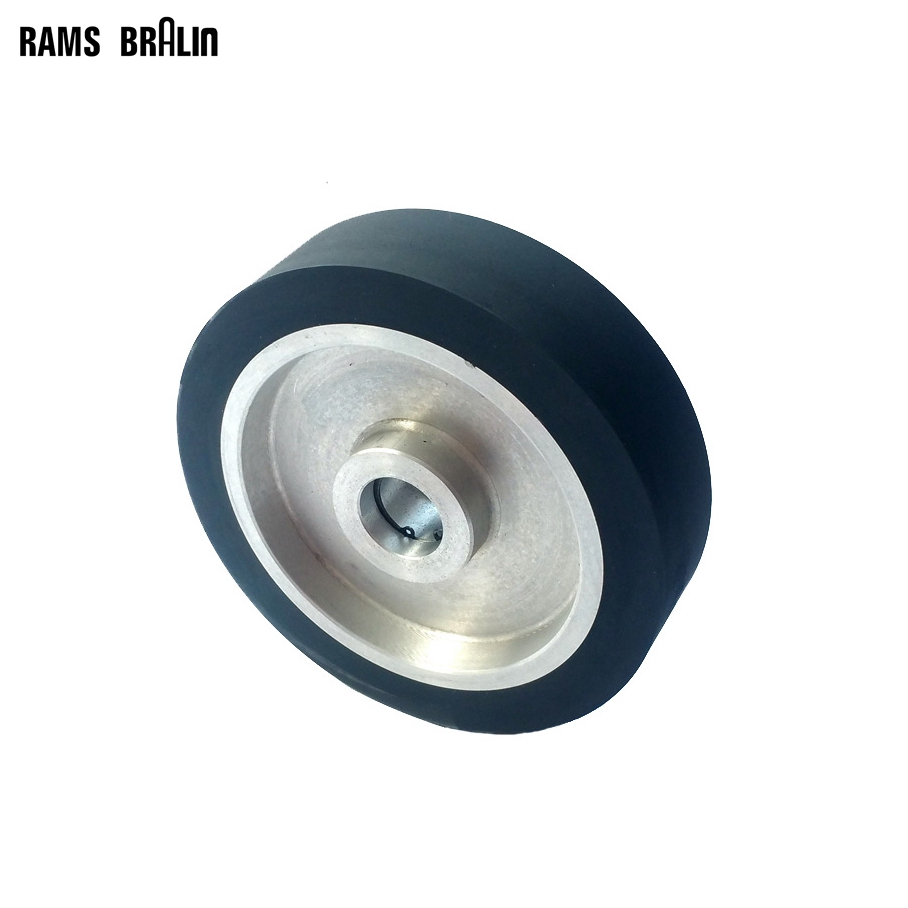 200*50mm Solid Belt grinder Rubber Contact Wheel Abrasive Belts Set Inner Hole Customized 300 50mm flat belt grinder contact wheel dynamically balanced rubber polishing wheel abrasive sanding belt set