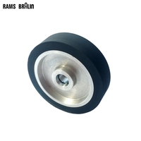 200 50 25mm Flat Surface Belt Grinder Rubber Contact Wheel Abrasive Belts Set