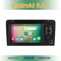 7 Inch Android 6 0 Eight Core Car DVD Player For Audi A3 2003 2011 With