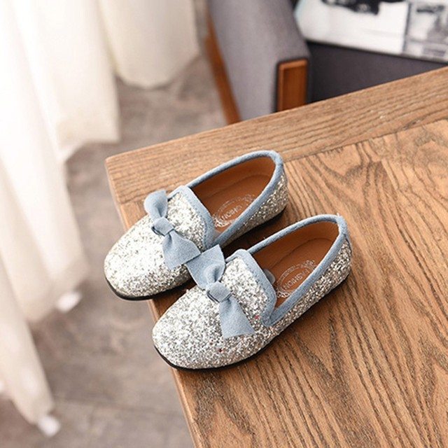 Kids Shoes Children Kid Baby Girls Bowknot Crystal Bling Single Princess Party Dance Shoes Baby Shoes Fashion zheng140 4