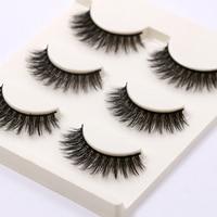 YOKPN A07 Multilayer Thick False Eyelashes Fashion 3D Fake Eyelashes Handmade Natural Curling Fake Eye Lashes Makeup Lashes Tool