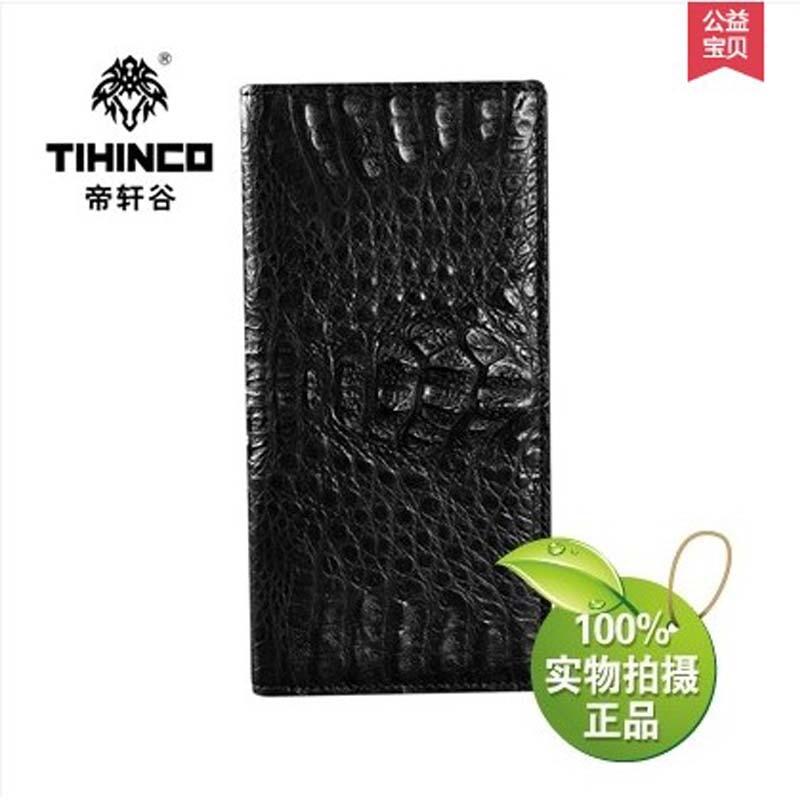tihinco High end font b men b font real leather crocodile font b bag b font