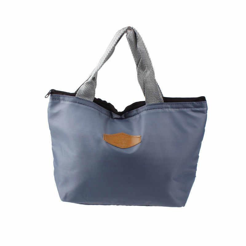 مقاوم للماء المحمولة نزهة علب الاغذية المحمولة معزول قماش الغداء حقيبة الحرارية الغذاء نزهة الغداء حقائب للنساء الاطفال