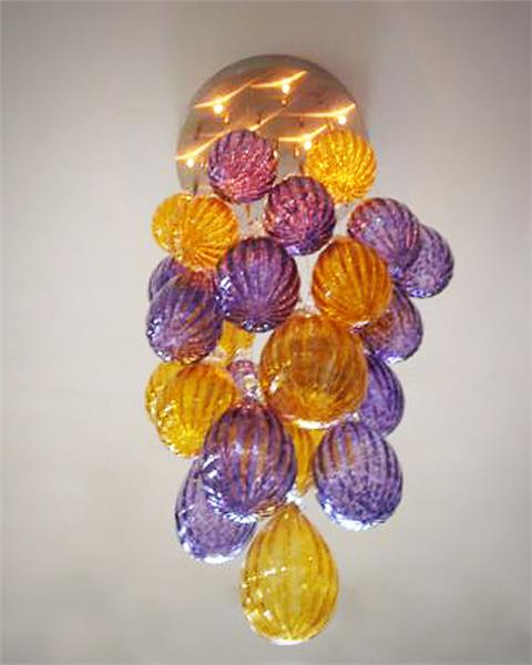 Modern Chihuly Color 20inches  Ballon Handicraft Blown Glass Chandelier Lighting|glass chandelier lighting|chandelier lighting|glass chandelier - title=