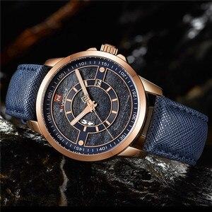 Image 2 - Relogio Masculino New NAVIFORCE Men Watch Sport Waterproof Wristwatch Military Army Business Leather Band Quartz Male Clock 9151