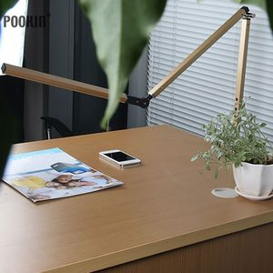 Image 2 - Lámpara de escritorio con brazo largo, lámpara de escritorio Led de oficina con Clip, lámpara de libro de larga vida con protección ocular para dormitorio, luz Led de 3 niveles de brillo y Color