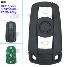 Walklee chave inteligente remota, funciona com sistema cas3 bmw série 1/3/5/7 x5 x6 z4 315lp 315 chip pcf7945 opcional de mhz 433mhz 868mhz