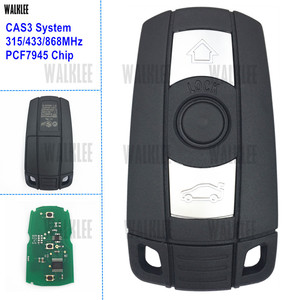 WALKLEE Remote Smart Key Suit for BMW CAS3 System 1/3/5/7 Series X5 X6 Z4 315LP 315MHz 433MHz 868MHz Optional PCF7945 Chip(China)