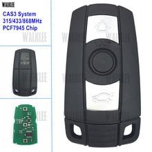 WALKLEE combinaison avec clé télécommande intelligente, pour BMW série 1/3/5/7 X5 X6 Z4, 315MHz, 433MHz, 868MHz, puce PCF7945 en option