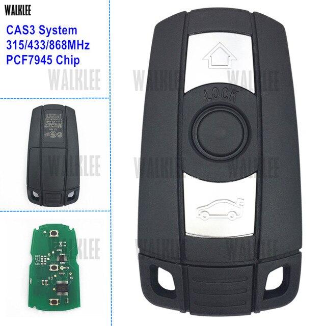 WALKLEE mando a distancia inteligente para BMW sistema CAS3, 1/3/5/7 Series X5 X6 Z4 315LP 315MHz 433MHz 868MHz, Chip PCF7945 opcional