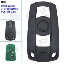 Walkleeリモートスマートキースーツ用bmw cas3システム1/3/5/7シリーズx5 x6のz4 315lp 315 mhzの433 mhzの868 mhzオプションPCF7945チップ