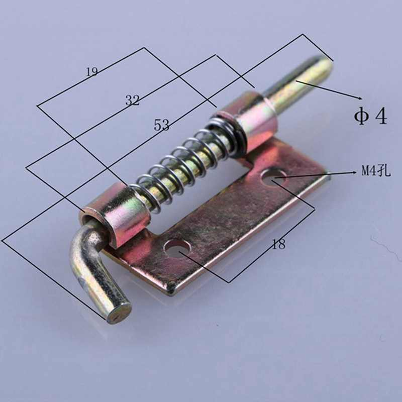 1Pc 5cm Long Silver Stainless Steel Door Latch Sliding Lock Barrel Bolt Latch Hasp Staple Gate Safety Lock