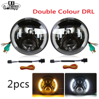 CO LIGHT 2Pcs 80W 7 Inch Round LED Headlight Halo Kit With CREE Chips H4 H13