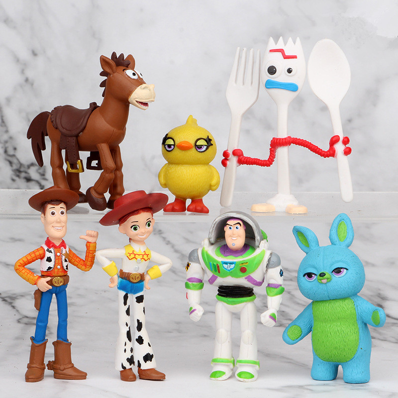 4 Series Hot Sale Toy Story 4 Buzz Lightyear Woody Jessie Lotso Bullseye Horse Figure Toys