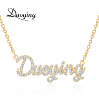 Duoying 2019 Zirconia Necklaces Pendant Necklace for Women Stone Chain Women Personalized Necklace with Names Initial Letters