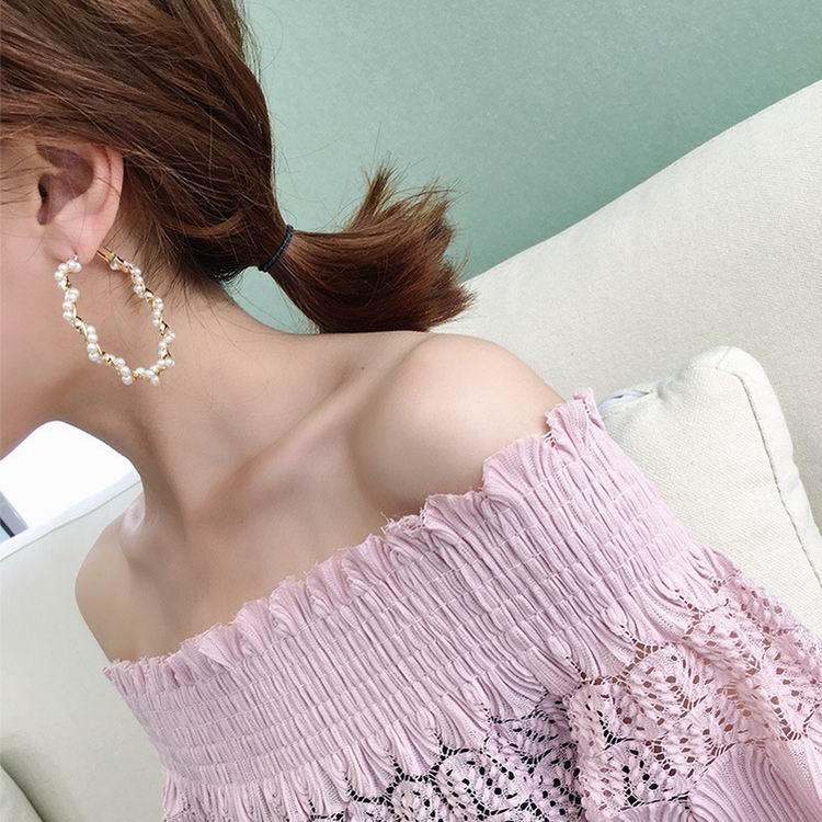 Купить женские массивные серьги кольца mengjiqiao новые большие круглые