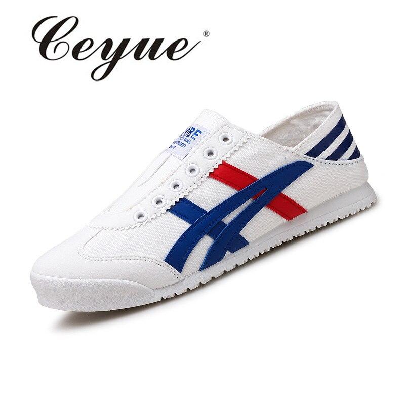 Prix pour Ceyue Nouvelle Planche À Roulettes Chaussures Pour Hommes Zapatillas Hombre Sports de Plein Air Chaussures Respirant Toile Sneakers Superstar Skate Chaussures