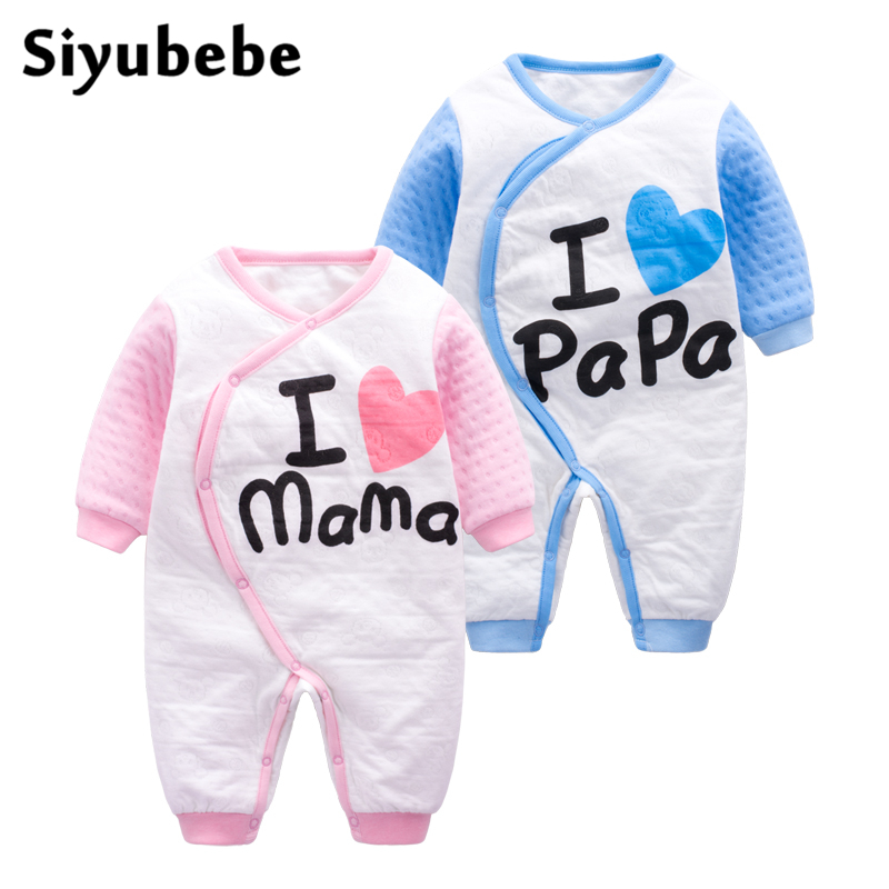 Baby Clothes High Quality Thicken Long Sleeve Ropa Bebe Rompers Infant Baby Girl Jumpsuit Cotton Newborn Baby Boy Clothes autumn winter baby girl rompers striped cute infant jumpsuit ropa long sleeve thicken cotton girl romper hat toddler clothes