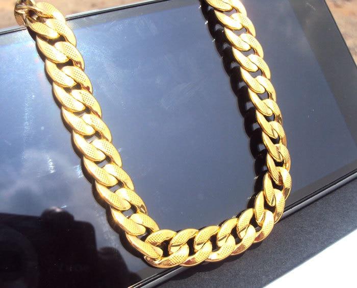 24K Solid Gold GF reale e dyanshme me rërë sekuence Kubani i - Bizhuteri të modës - Foto 2