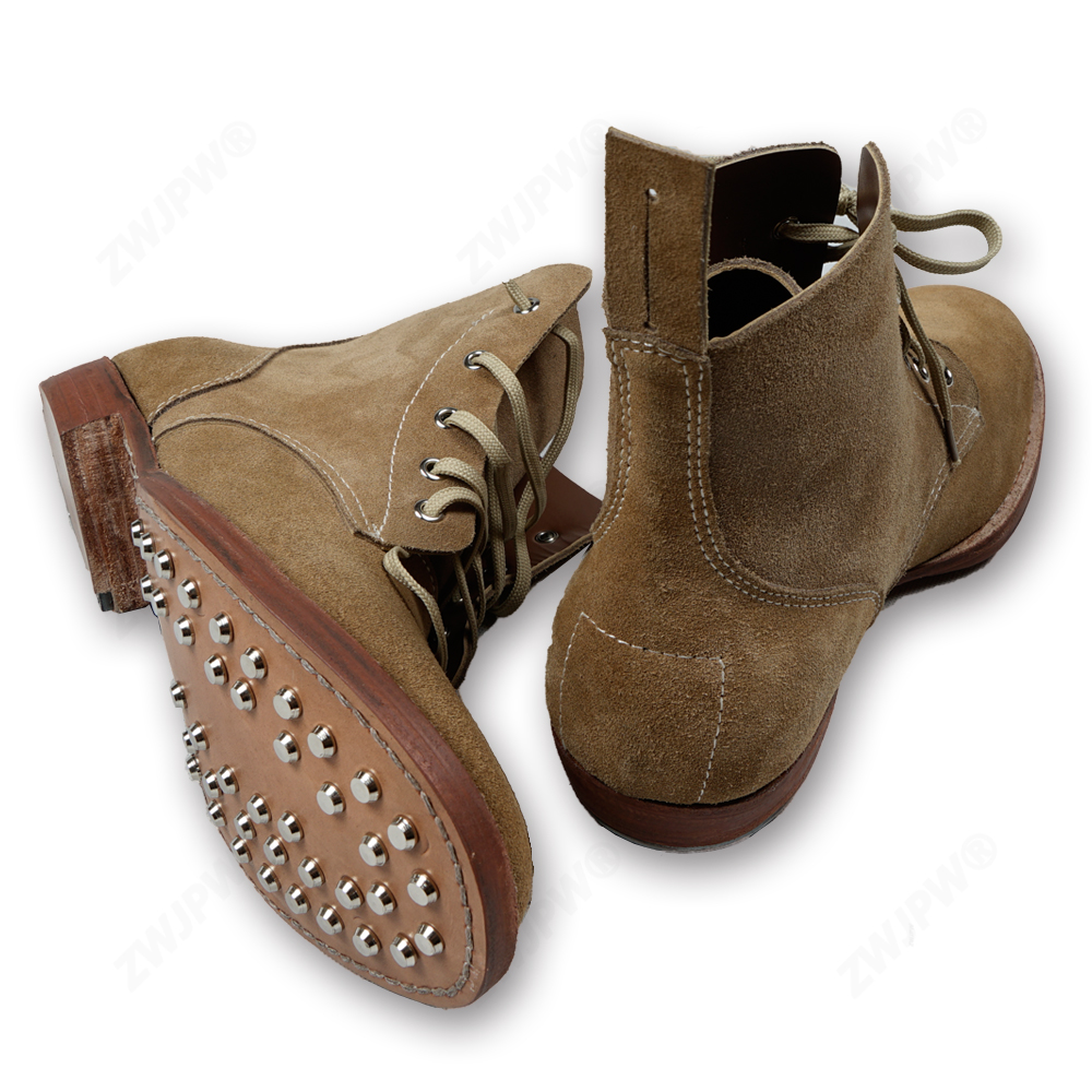 WW2 HIGH QUALITY Boots Made Of Pure Cowhide Bottom Nail Hoof