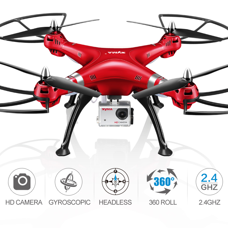 SYMA X8HG RC Quadrocopter Controller Drone Video With Camera 8MP HD 2.4G 4CH RC Helicopter Remote Control Flying Toy Helicopter image