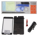 Front Outer Glass Lens Black for Nokia Lumia 630 Replacement Repair Kit