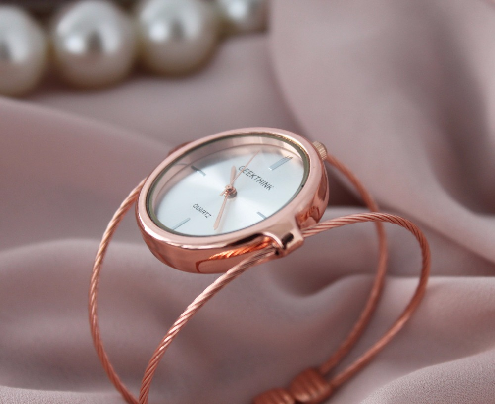 GEEKTHINK Metropolitan Fashion Luxury Brand Quartz Watch Kvinnor - Damklockor - Foto 5