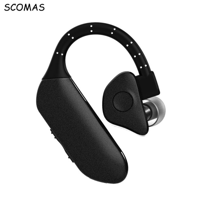 SCOMAS Hand-free Wireless Bluetooth Earphone Mini Bluetooth Headset Headphones with Mic Business for Mobile Phones Headphone remax 2 in1 mini bluetooth 4 0 headphones usb car charger dock wireless car headset bluetooth earphone for iphone 7 6s android