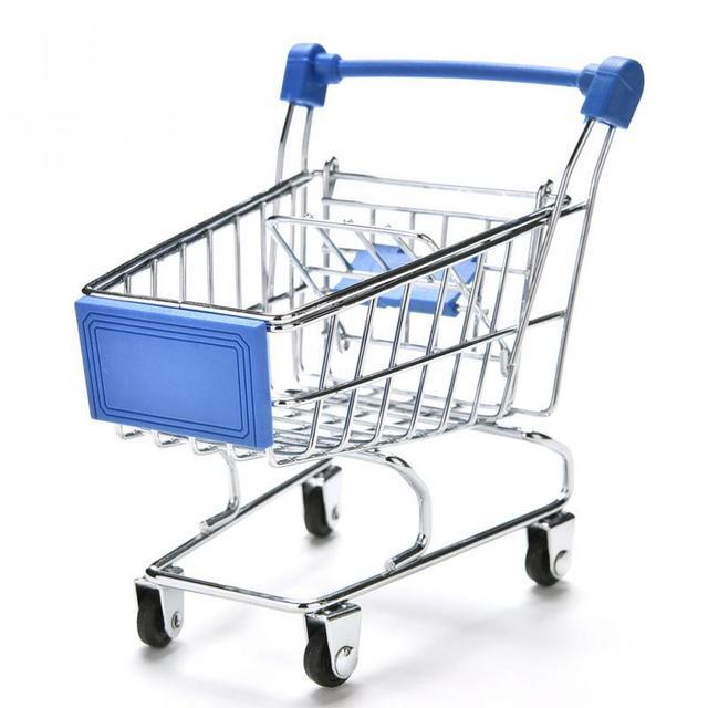 Mini supermercado cesta Cestas de almacenamiento juguete carro ...
