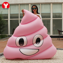 2019 New Inflatable Piscine Floating Air Mattress 160cm Giant Inflatable Poop Emoji Float Swimming Water Toys Ring For Women 160 giant inflatable beach emoji pool float swimming ring water toy inflatable glasses emoji float for women emoji air mattress