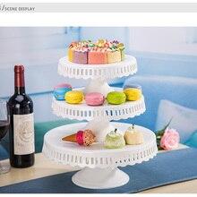 8 дюймов 10 дюймов 12 дюймов керамическая подставка для торта Свадебная белая тарелка для свадебного торта украшение для кекса