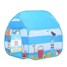 Childrens tent princess boy camping game house single outdoor four-corner toy marine ball pool for baby gifts