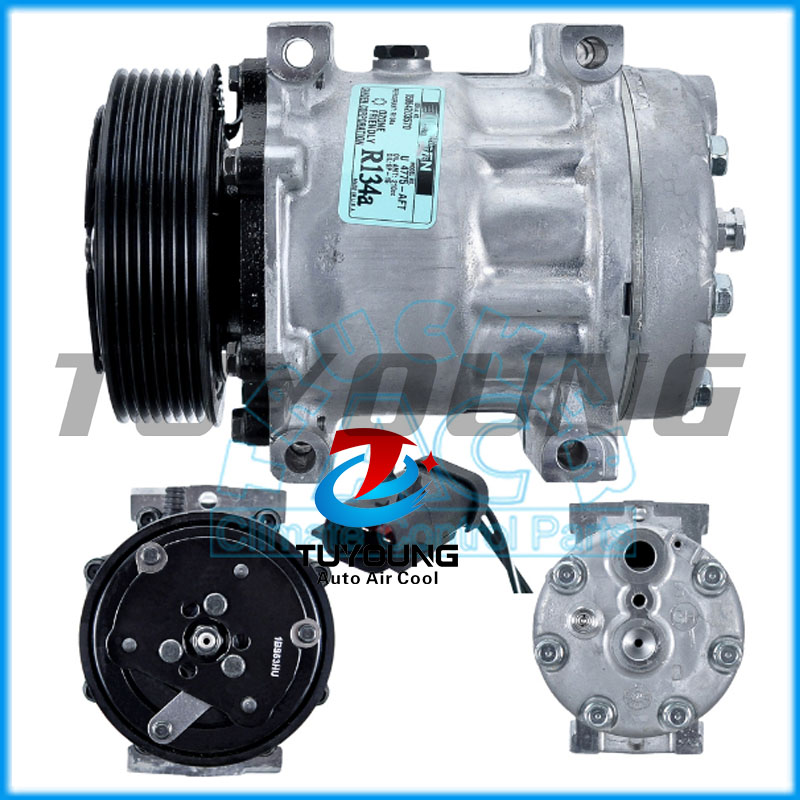 Factory direct sale Auto AC 7H15 Compressor FOR Excavator 119mm 8pk Sanden 4775Factory direct sale Auto AC 7H15 Compressor FOR Excavator 119mm 8pk Sanden 4775