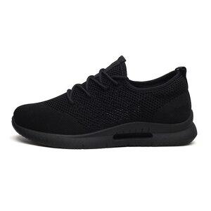 Image 5 - Weweya hafif rahat ayakkabılar erkek örgü kaliteli spor ayakkabı erkekler nefes Tenis Lace Up erkek ayakkabısı açık yürüyüş ayakkabısı