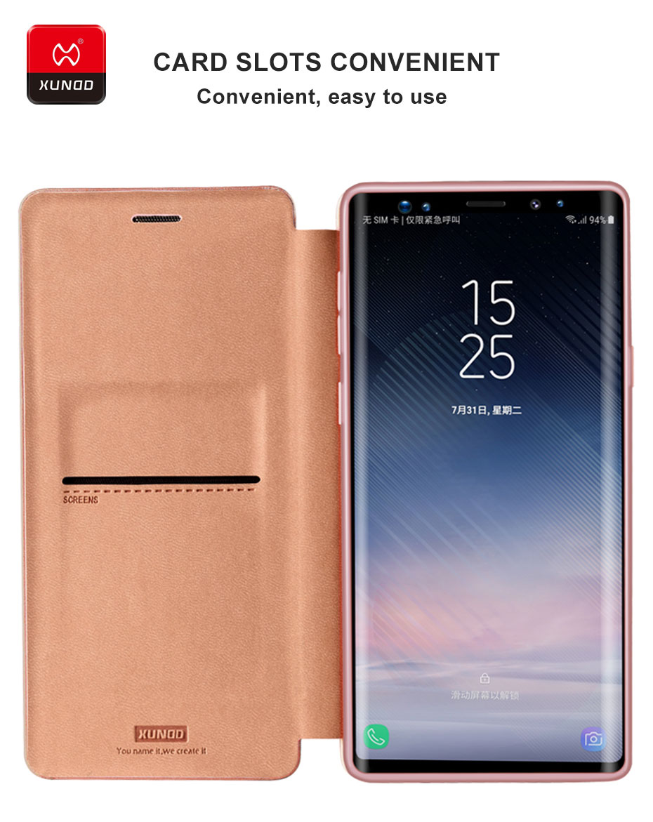 Brand Luxury 360 Full Shockproof Case For Samsung Galaxy Note9 Note8 Led Cover Brown Phone Leather Protective Back Flip Magnetic In Cases From