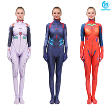 3D printing Anime EVA NEON GENESIS EVANGELION Plugsuit Cosplay Costume Ayanami Rei Zentai Bodysuit Suit Jumpsuits rmdmyc neon genesis evangelion erza 1 8 scale painted pvc action figure toys cute eva maid dress rei ayanami