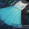 Sweet Cocktail Dresses 2015 New Bride Married Banquet Lace Short Prom Dress Plus Size Party Formal Dresses
