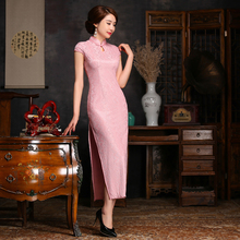 Shanghai Story Long Qipao traditional chinese cheongsam dress qipao Lace dresses blue chinese style dress