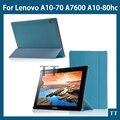 """Искусственная кожа стенд чехол для Lenovo Lenovo tab A10-70 A7600 A10-80hc 10.1 """" планшет чехол обложка + бесплатных 3 + протектор экрана"""