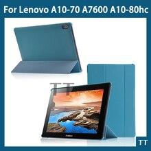 """Pu cuero coloca la cubierta case para Lenovo Lenovo tab A10-70 A7600 A10-80hc 10.1 """" caja de la tableta de la cubierta + free 3 regalos + protector de pantalla"""