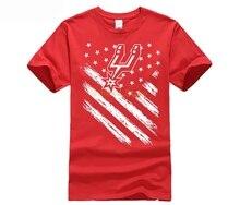 hot deal buy gildan t shirts men tshirt hip hop cool shirts san antonio flag spurs nation t-shirts for men summer shirt sleeve shirt
