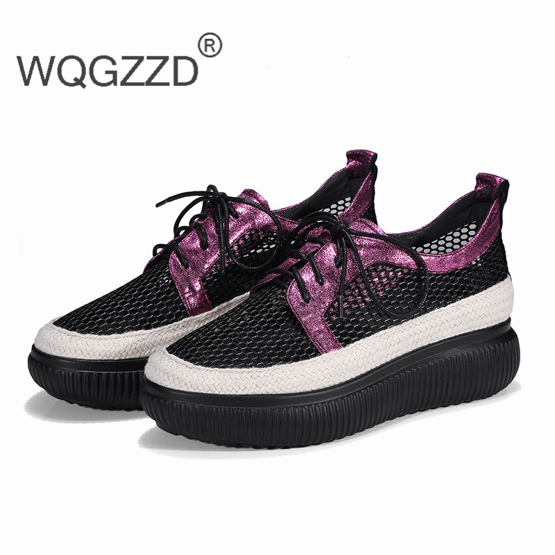 Chaussures femme brand flat shoes women loafers genuine leather cutout summer fashion soft comfortable women casual