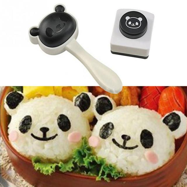 1 set Cartoon Panda Sushi Maker Riso Rotolo Muffa Cucina FAI DA TE ...